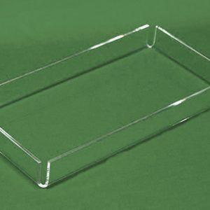 Acrylic Econo Tray, 12″l x 8″w x 1-1/4″h