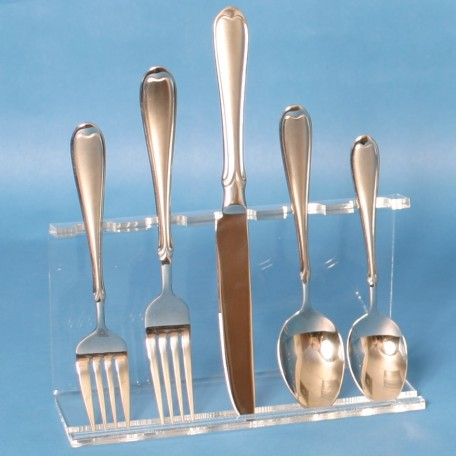Acrylic 5 piece Flatware Display