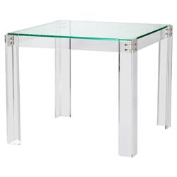 Acrylic Game Table, Square, Acrylic and Glass