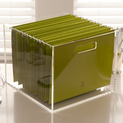 Acrylic File Box 12.25″ x 12.75″ x 10Tall""