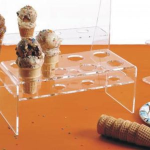 Clear acrylic ice cream cone display