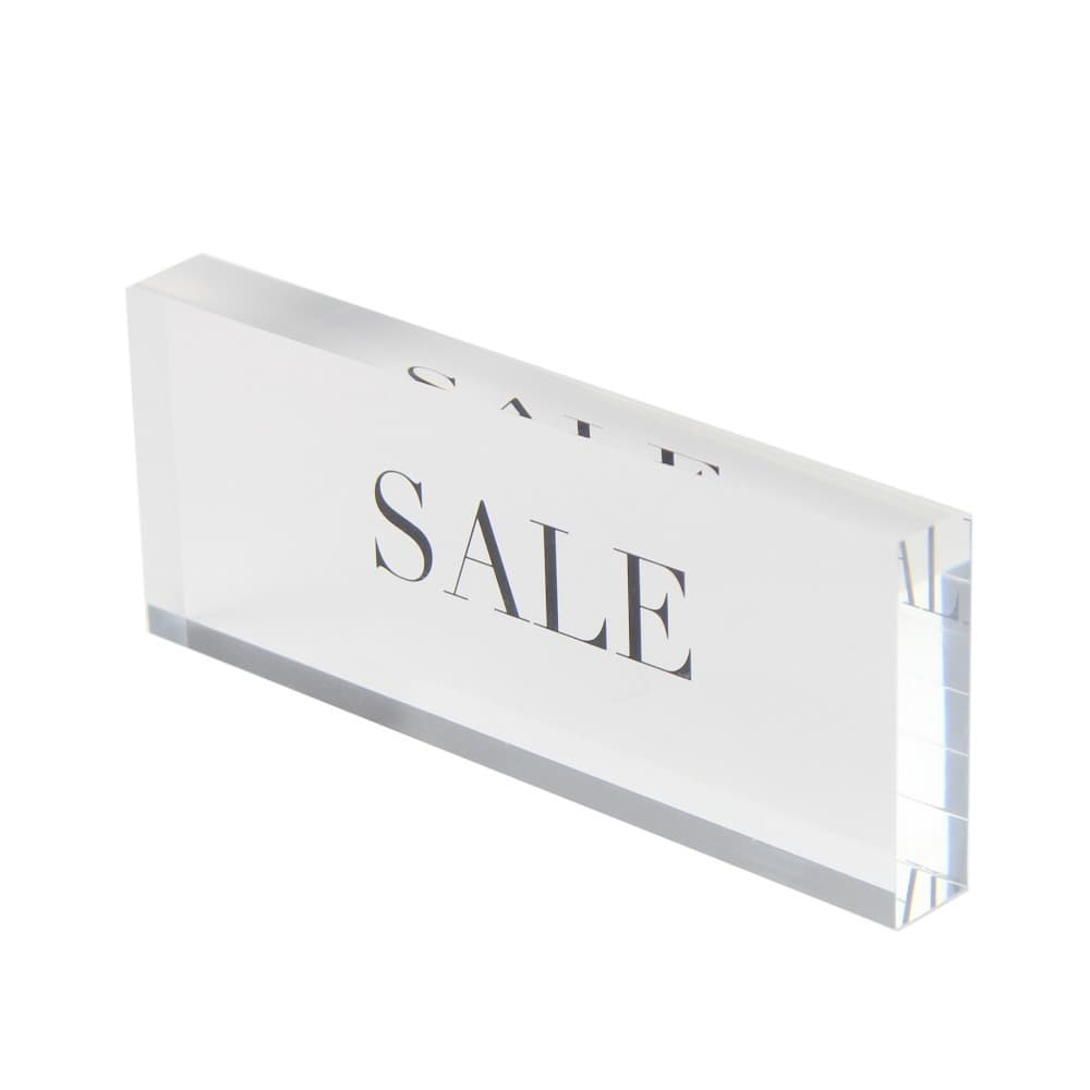 Acrylic Logo Block 5″ x .500″ x 3.00″ tall  SALE