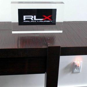 Acrylic Logo Block 12″ x 1.25″ x 8″ tall