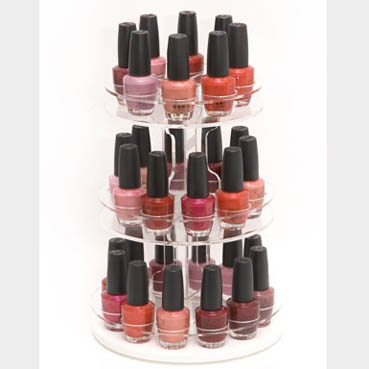 Acrylic Lazy Susan Nail Polish Display