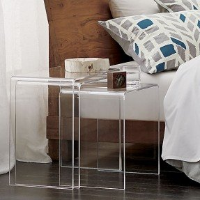 Acrylic Nesting tables 16″ & 14″ & 12″