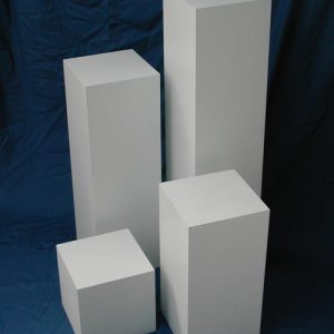 Box Pedestal 12″ x 12″ x 18″ tall White acrylic