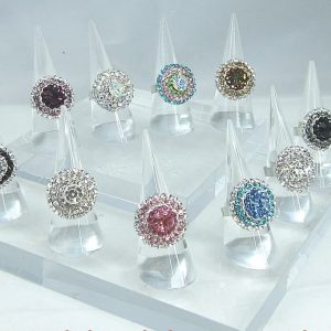 Acrylic ring cone display