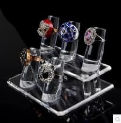 Acrylic ring cone display 2