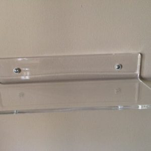 Acrylic shelf bent 10″ x 4″ x 2″ tall .250″ clear acrylic