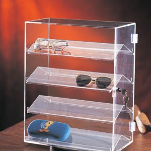 Acrylic Locking Eyewear Display Case 14″ x 8″ x 18″ tall