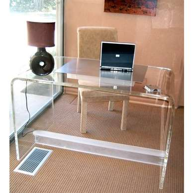 48″ x 24″ x 30″ tall waterfall table .750″ thick acrylic