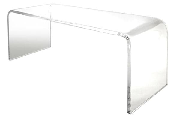 60″ x 18″ x 18″ tall waterfall coffee table .750″ thick acrylic