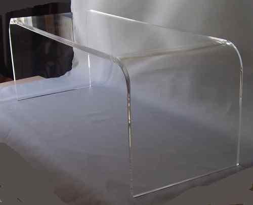 acrylic waterfall table
