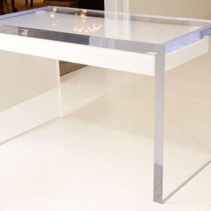 Acrylic Desk with drawers 36″ x 20″ x 30″ tall