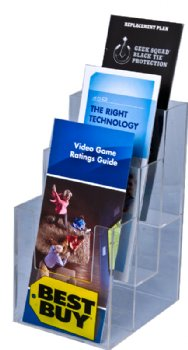 3 tiered molded 4″ x 9″ brochure holder