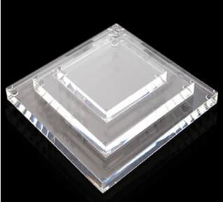 7″ x 12″ x 1-1/4″ Clear Acrylic Base