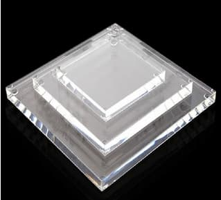 14″ x 9″ x 1.00″ thick clear acrylic base