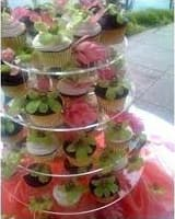 Cupcake stand round 4 tiers