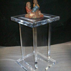 12″ x 12″ x 24″ – Clear Acrylic Pedestal, 1″