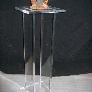 12″ x 12″ x 24″ – Clear Waterfall Pedestal, 1-1/2″
