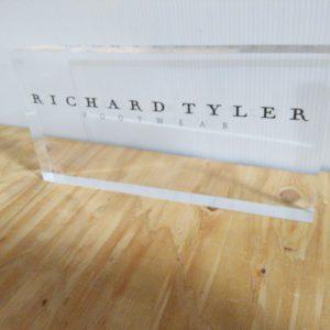 Acrylic Logo Block 10″ x 1.00″ x 8.00″ tall