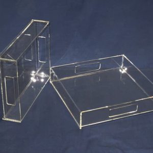 Acrylic serving tray 16″ long