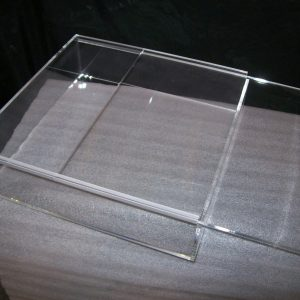 Acrylic Sliding Door Case 14.75 x14.75 x 4