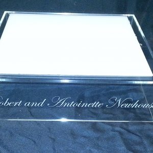 Acrylic Wedding Cake Stand With Engraved Name