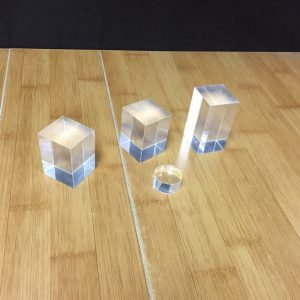 1.25″ solid acrylic cube