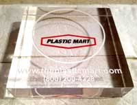 Acrylic coaster 4″ x 4″ x 1.00″ thick