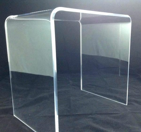 waterfall style acrylic small desk -Plasticmart