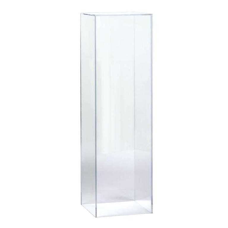Acrylic Pedestal Rectangular 12″ x 12″ x 18″ clear