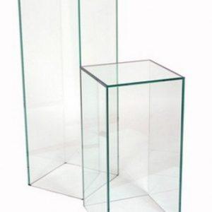 Acrylic Pedestal Rectangular 12″ x 12″ x 40″ clear