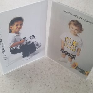 Acrylic photoframe 4″ x 6″ tall double sided