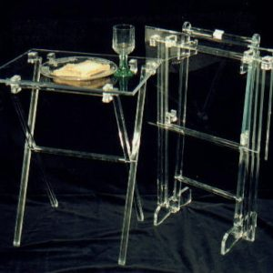 Acrylic Tray table clear (set of two)