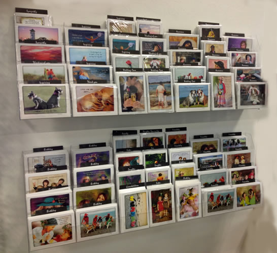 Wall Mount Greeting Card Display