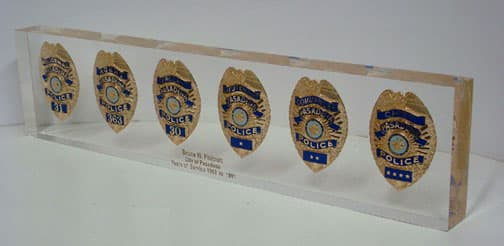 Six Badge Embedment 24″ x 5″ x 1″ thick